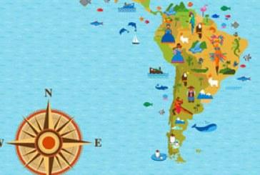 دانلود وکتور نقشه جهان با نماد کشور ها