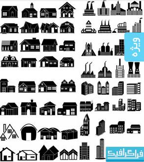 دانلود آیکون ساختمان های مختلف