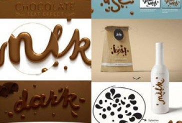 دانلود فایل لایه باز افکت متن شکلاتی