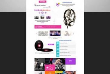 قالب PSD سایت رسانه ای Station Interactive