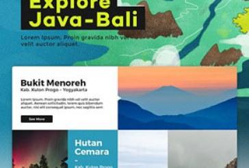 قالب PSD سایت تک صفحه ای Explore Java-Bali