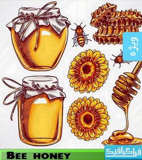 دانلود وکتور های زنبور و عسل