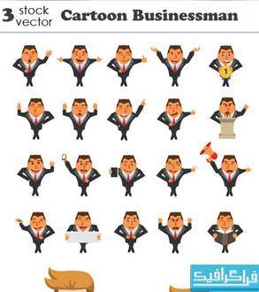 وکتور شخصیت های کارتونی تاجر - شماره 3
