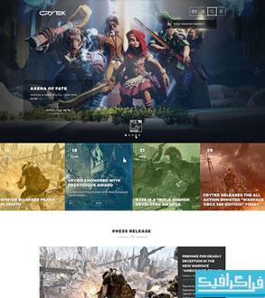 دانلود قالب psd سایت بازی Crytek