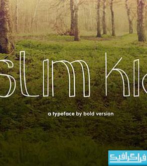 دانلود فونت انگلیسی نازک کودکانه Slim Kid