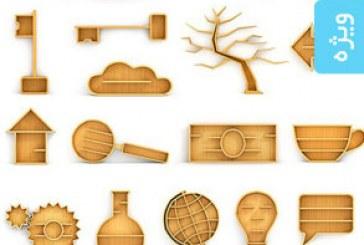 تصاویر استوک کتابخانه های چوبی – طرح مفهومی