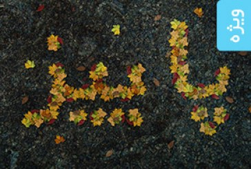 آموزش فتوشاپ ساخت افکت متنی برگ های پاییزی