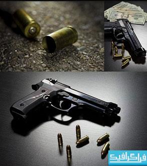 دانلود تصاویر استوک اسلحه و گلوله