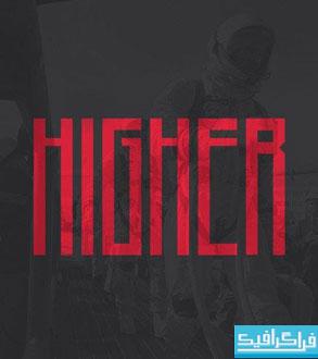دانلود فونت انگلیسی گرافیکی Higher