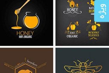 دانلود لوگو های عسل و زنبور