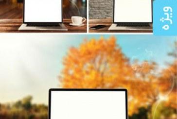 تصاویر استوک لپ تاپ در پس زمینه های مختلف