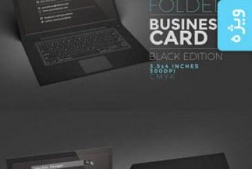 دانلود کارت ویزیت طرح لپ تاپ – نسخه سیاه
