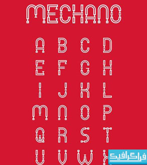 دانلود فونت انگلیسی گرافیکی Mechano