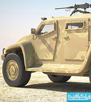 مدل 3 بعدی خودرو نظامی Hawkei Australian