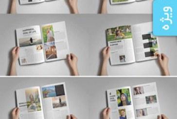 فایل لایه باز ایندیزاین مجله چند منظوره – شماره 7
