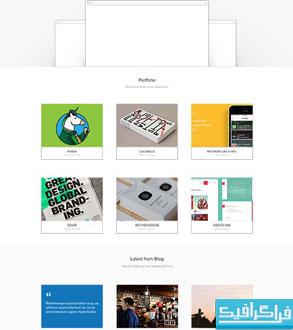 دانلود قالب PSD سایت تک صفحه ای Velox