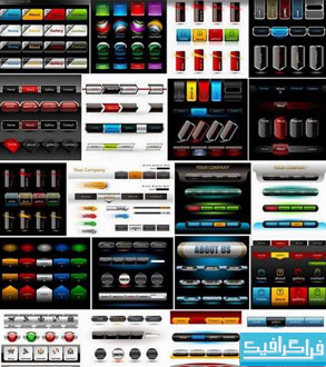 وکتور های عناصر طراحی صفحات وب - شماره 2