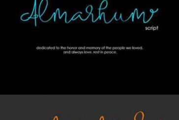 دانلود فونت انگلیسی دستخط Almarhum