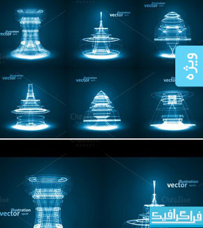 دانلود وکتور طرح های انتزاعی تکنولوژی