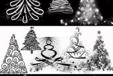 دانلود براش های فتوشاپ درخت کریسمس