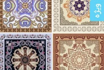 دانلود وکتور طرح های دستمال گلدار