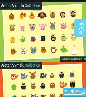 دانلود وکتور حیوانات کارتونی بامزه