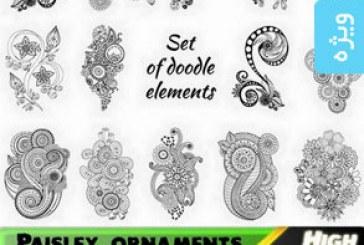 دانلود وکتور های اشکال تزئینی اسلیمی