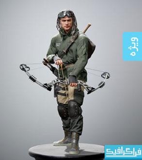 دانلود مدل سه بعدی مرد جنگجو
