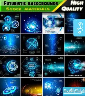 دانلود وکتور طرح های تکنولوژی و آینده