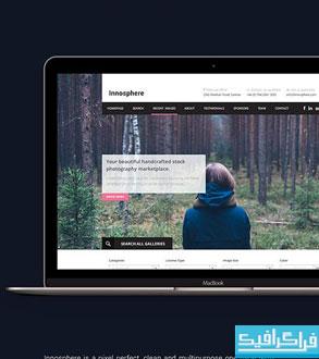 دانلود قالب psd سایت تک صفحه ای Innosphere