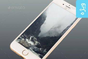 ماک آپ فتوشاپ گوشی iPhone 6 طلایی
