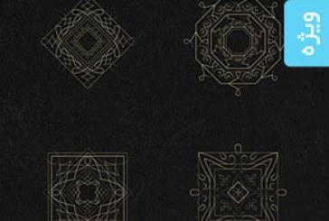 دانلود وکتور عناصر تزئینی طراحی لوگو