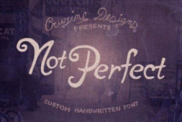 دانلود فونت انگلیسی دستخط Not Perfect