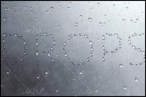 آموزش فتوشاپ ساخت افکت متن قطرات باران