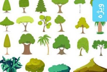 دانلود وکتور های درخت و بوته