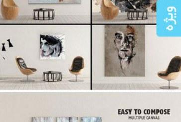 دانلود ماک آپ فتوشاپ دیوار هنری – شماره 2