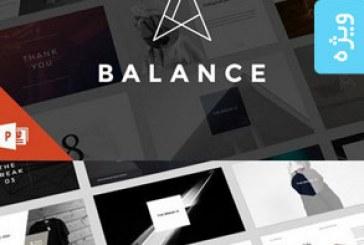 دانلود قالب پاورپوینت حرفه ای Balance