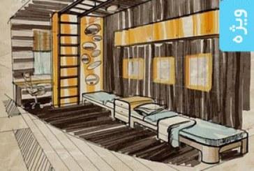 وکتور های نمای داخلی خانه – نقاشی اسکچ