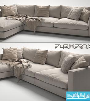 دانلود مدل سه بعدی کاناپه - شماره 8
