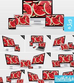 ماک آپ فتوشاپ محصولات شرکت اپل - شماره 3