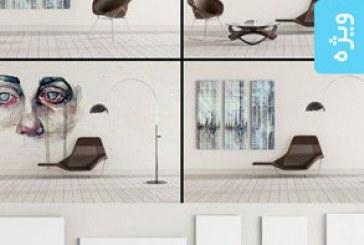 دانلود ماک آپ فتوشاپ دیوار هنری – شماره 4