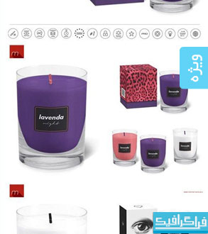 دانلود ماک آپ های فتوشاپ شمع با جعبه