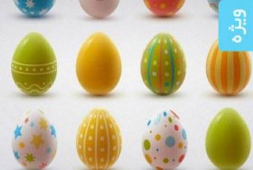 دانلود وکتور های تخم مرغ رنگی