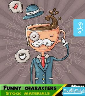 وکتور شخصیت های کارتونی بامزه – شماره 5