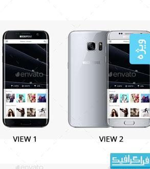 ماک آپ های گوشی سامسونگ Galaxy S7 Edge
