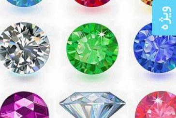 دانلود وکتور های الماس و جواهرات