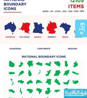 دانلود وکتور نقشه سیاسی کشور های جهان