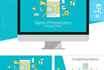 قالب پاورپوینت بازاریابی آنلاین Online Marketing