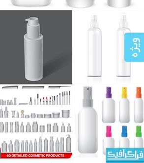 دانلود وکتور ماک آپ های بطری پلاستیکی
