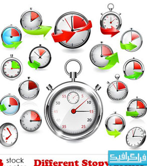 دانلود وکتور های زمان سنج و کرونومتر - شماره 2